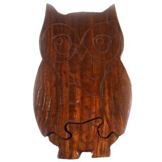 Handmade Owl Puzzle Box (India)