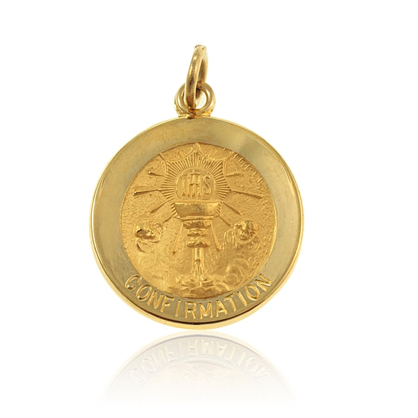 14K Gold Round Confirmation Cup Medal (USA) 18826826