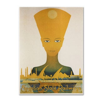 Vintage Apple Collection 'Egyptian State Railway' Canvas Art