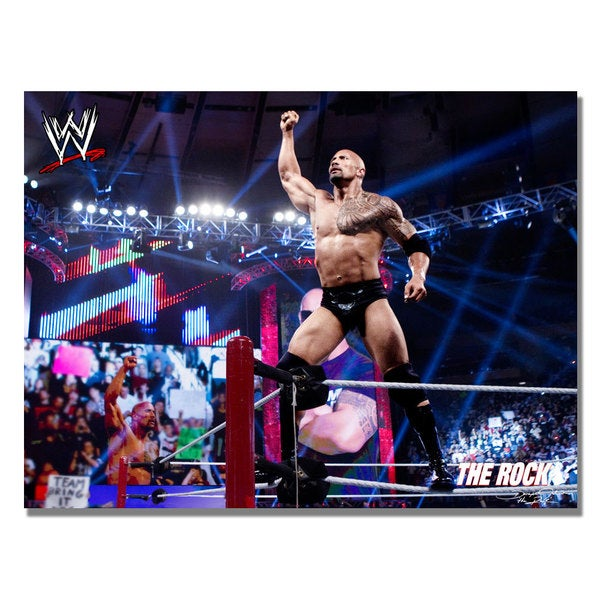 WWE 'The Rock' Canvas Art