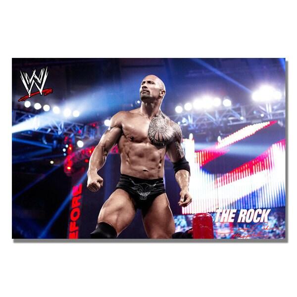 WWE 'The Rock 2' Canvas Art