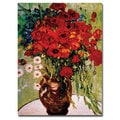 Vincent van Gogh 'Dasies & Poppies' Canvas Art