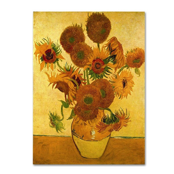 Vincent van Gogh 'Vase with Sunflowers' Canvas Art