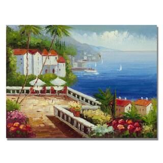 Unknown 'Mediterranean View' Canvas Art