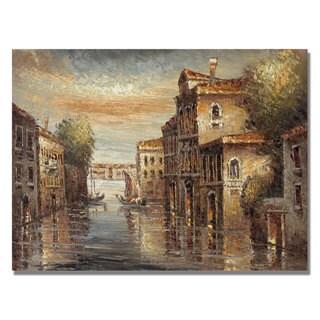 Rio 'Auburn Venice' Canvas Art