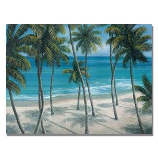 Rio 'Barbados Palms' Canvas Art