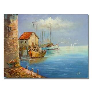 Rio 'Fishing Wharf' Canvas Art