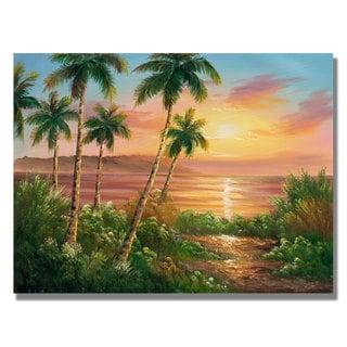 Rio 'Pacific Sunset' Canvas Art
