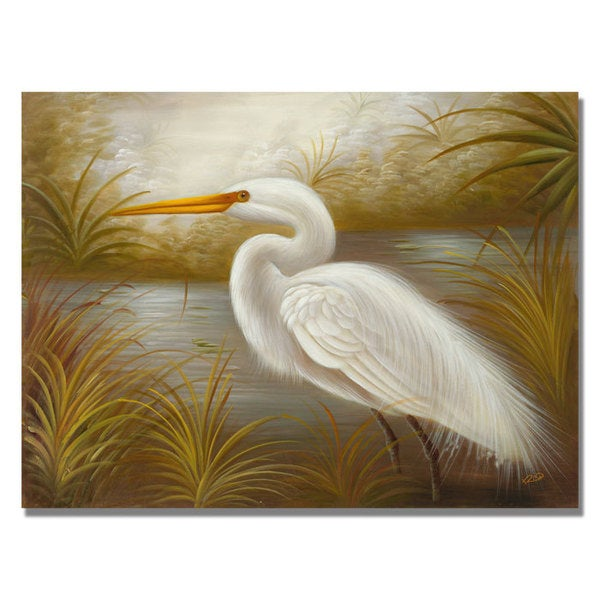 Rio 'White Heron' Canvas Art