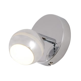Alternating Current Bionic 1-Light LED Polished Chrome Vanity
