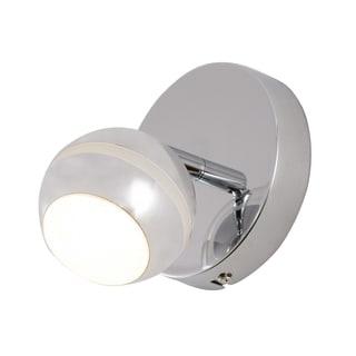 Alternating Current Bionic 1-Light LED Polished Chrome Vanity