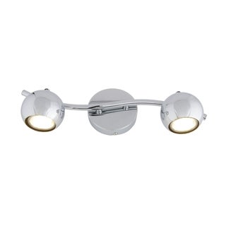 Alternating Current Bowled Over 2-Light LED Chrome Vanity
