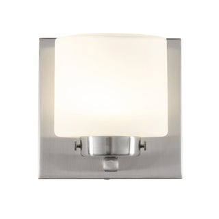 Alternating Current Clean 1-Light LED Satin Nickel Vanity