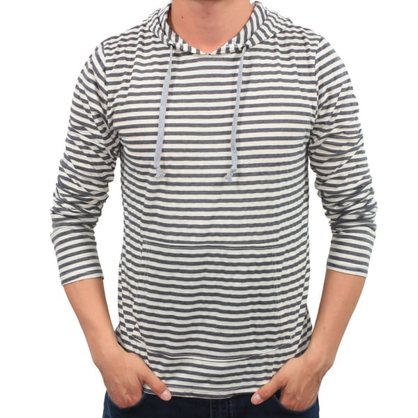 Men's Striped Pull-over Hoodie