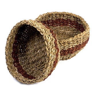 Set of Two Hogla Leaf Storage Baskets (Bangladesh)
