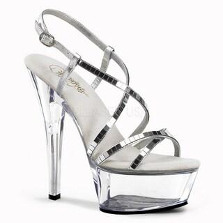 Pleaser Women's 'Kiss-213' 6-inch Spike Heel Platfrom Sandal