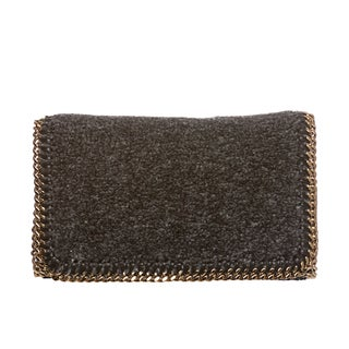 Stella McCartney 'Falabella' Teddy Fabric Crossbody Clutch