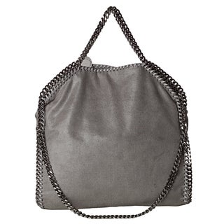 Stella McCartney 'Falabella' Grey Shaggy Deer Fold-over Tote