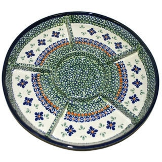 Stoneware 6-sectioned Appetizer Plate (Poland)