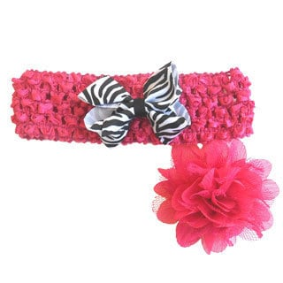 Bow and Flower Headband Set (Set of 3)