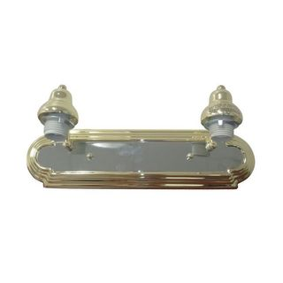 Race Track 2-light Polished Brass Vanity with Arm