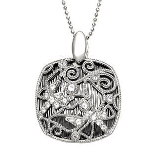 Sofia Sterling Silver White Topaz Lace Necklace