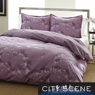 City Scene Blossom Cotton 3-piece Duvet Cover Set
