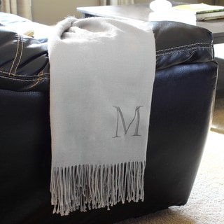 Personalized Gray Throw