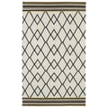 Flatweave Ziggy Black Wool Rug (3'6 x 5'6)