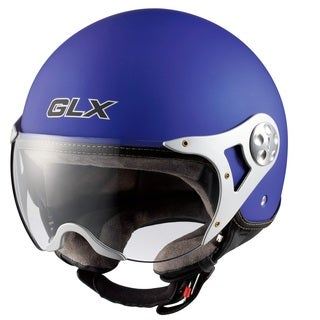 GLX Copter Style Open Face Motorcycle Helmet