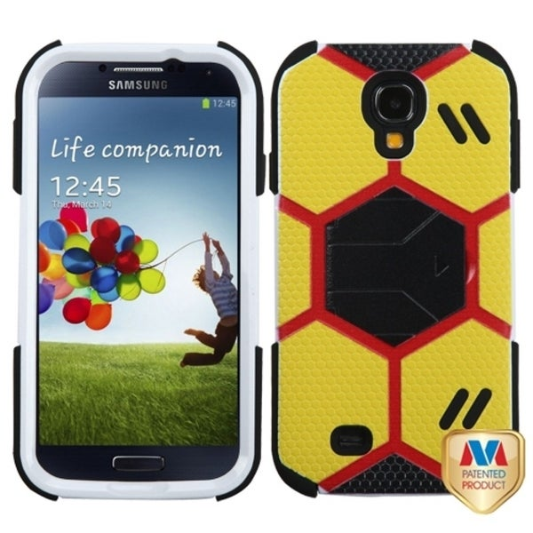 INSTEN Yellow/ Black Goalkeeper Hybrid Phone Case Cover for Samsung Galaxy S4 I337