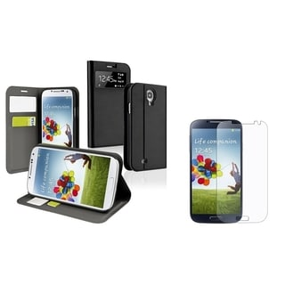 BasAcc Leather Case/ Screen Protector for Samsung Galaxy S4 i9500
