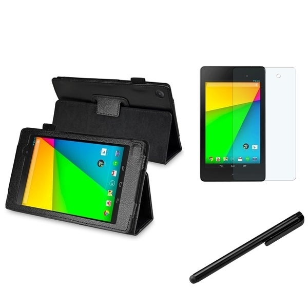 BasAcc Leather Case/ Stylus/LCD Protector for Google New Nexus 7