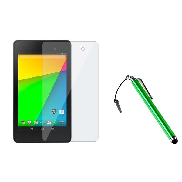 BasAcc Green Stylus/ Screen Protector for Google New Nexus 7