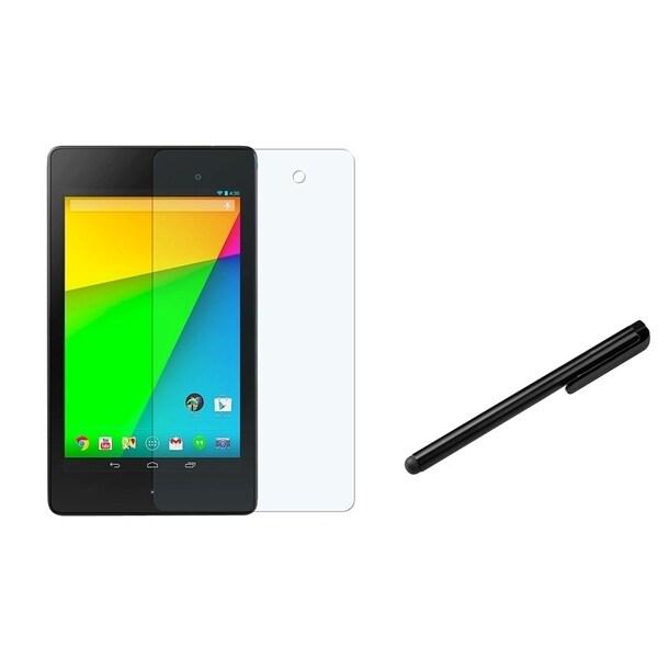 BasAcc Black Stylus/ Anti-glare LCD Protector for Google New Nexus 7