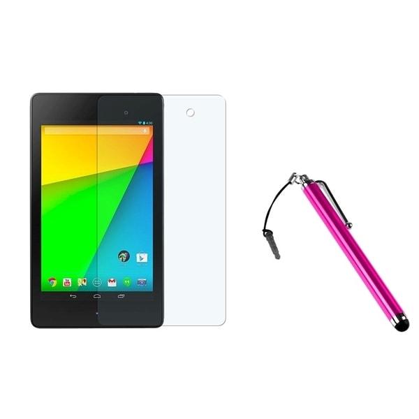 BasAcc Pink Stylus/ Anti-glare Screen Protector for Google New Nexus 7