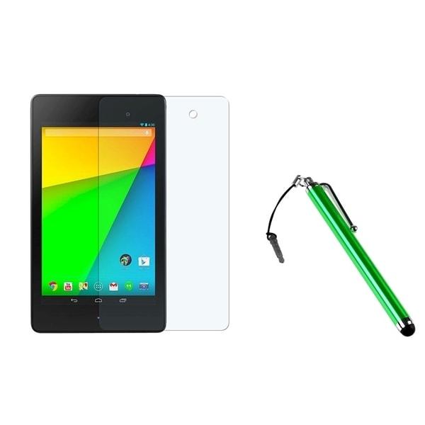 BasAcc Green Stylus/ Anti-glare LCD Protector for Google New Nexus 7