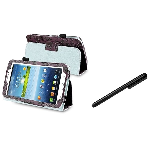 INSTEN Tablet Tablet Case Cover/ Black Stylus for Samsung Galaxy Tab 3 7.0 P3200