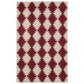 Flatweave TriBeCa Red Wordly Wool Rug (3'6 x 5'6)