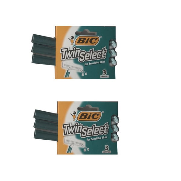 BIC Twin Select for Sensitive Skin (Pack of 2)