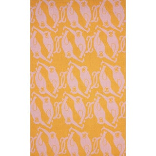 nuLOOM Hand-hooked Novelty Monkeys Orange Rug (5' x 8')