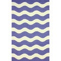 nuLOOM Hand-hooked Indoor/ Outdoor Ocean Waves Blue Rug (5' x 8')