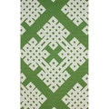 nuLOOM Hand-hooked Modern Lattice Emerald Green Rug (7'6 x 9'6)