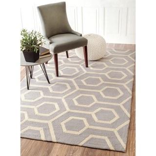 nuLOOM Handmade Modern Indoor/ Outdoor Trellis Grey Rug (8' x 10')