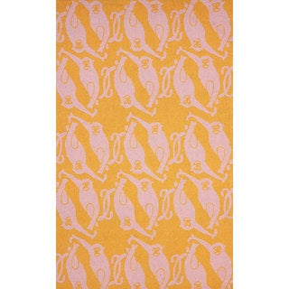 nuLOOM Hand-hooked Novelty Monkeys Orange Rug (7'6 x 9'6)