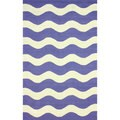nuLOOM Hand-hooked Indoor/ Outdoor Ocean Waves Blue Rug (8'6 x 11'6)