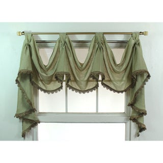 Celedon 3-scoop Victory Swag Window Valance