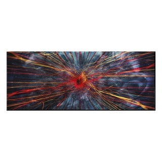 Implosion' Modern Charcoal Abstract Metal Wall Art
