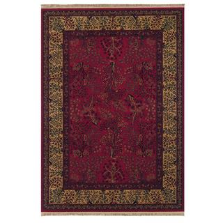 Kashimar Tree of Life/ Bordeaux Area Rug (6'6 x 10'1)