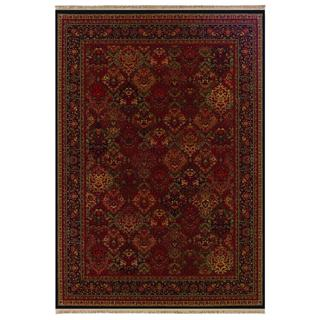 Kashimar Panel Kerman/ Rose Scarlet Area Rug (7'10 x 11'4)